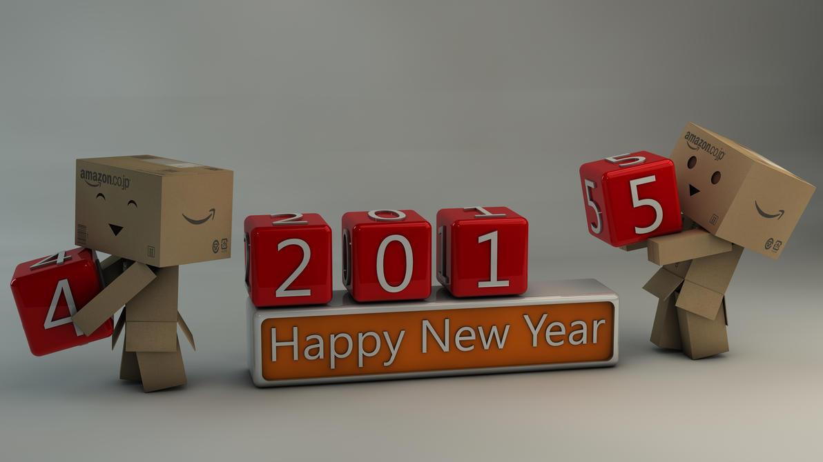 Danbo Happy New Year 2015 by Dracu-Teufel666