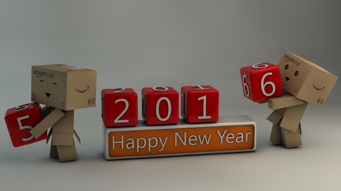 Danbo Happy New Year 2016 by Dracu-Teufel666
