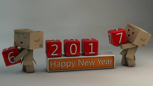 Danbo Happy New Year 2017