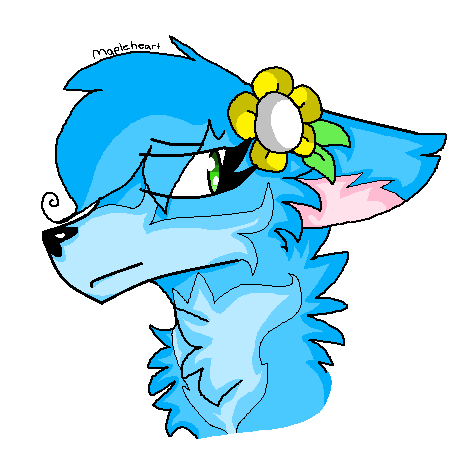 Blue MS Paint Wolf by Dragonqueen316AJ