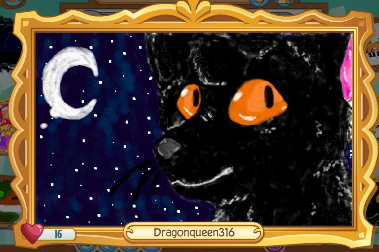 Animal Jam Art Studio - Black Cat by Dragonqueen316AJ