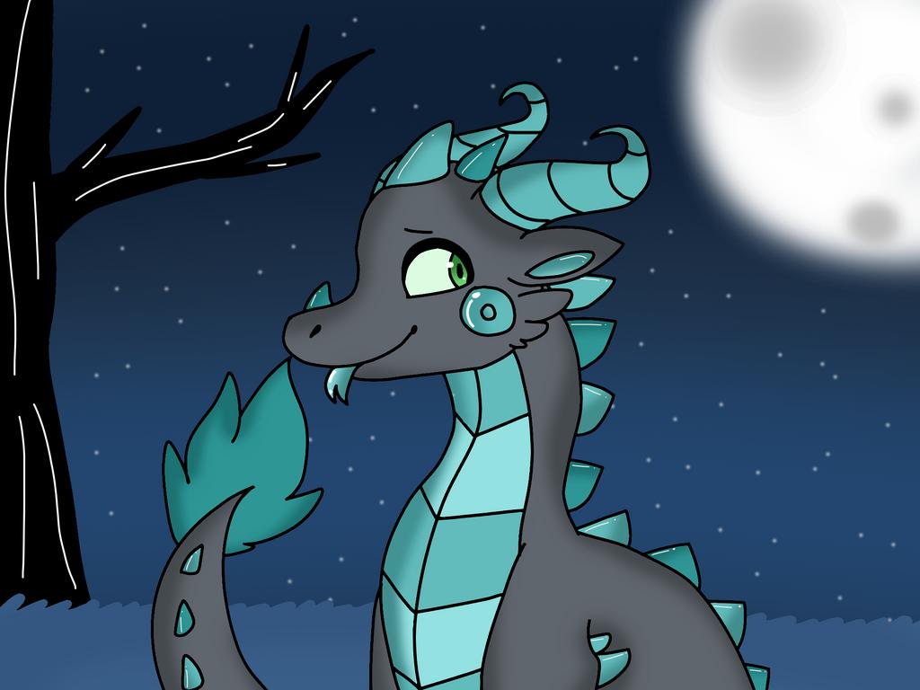 Nighttime Dragon by Dragonqueen316AJ