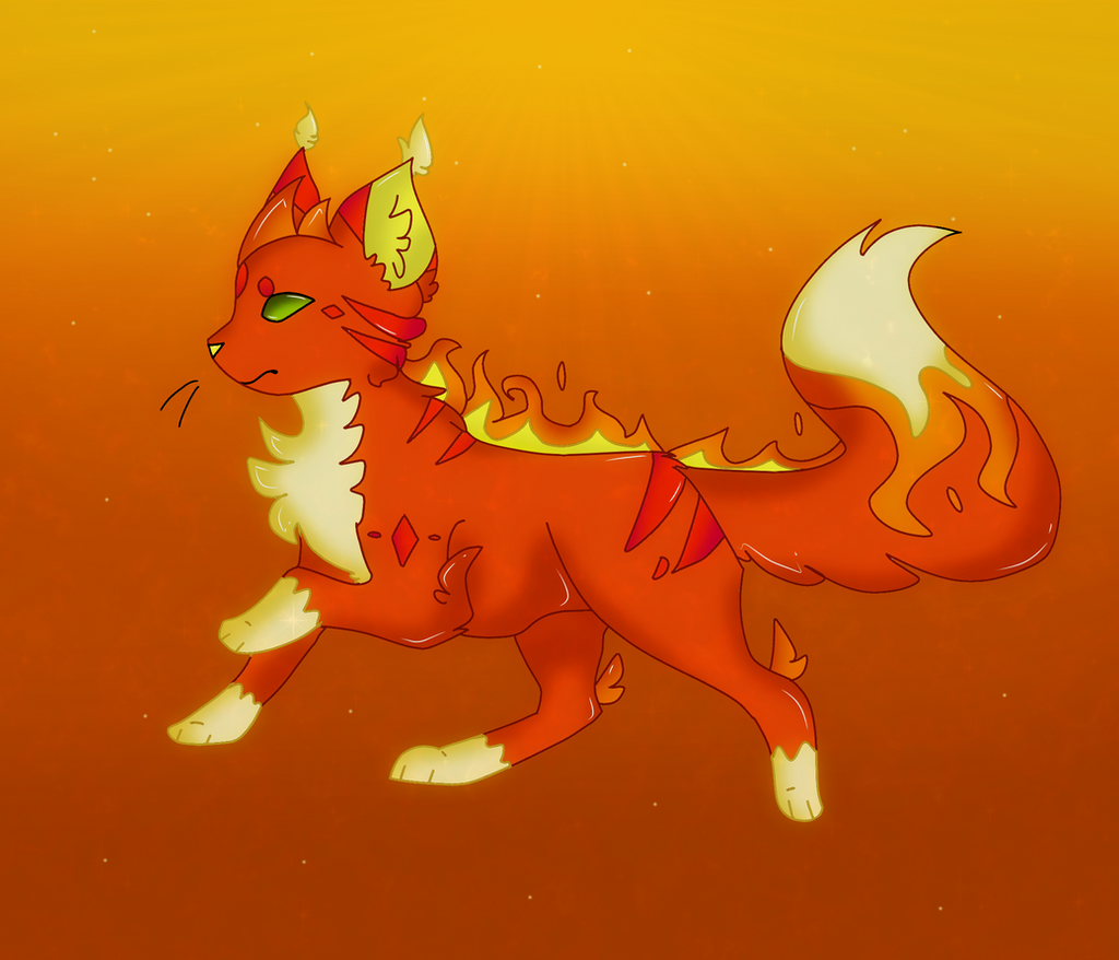 Elemental Cat .:. Fire .:. by Dragonqueen316AJ