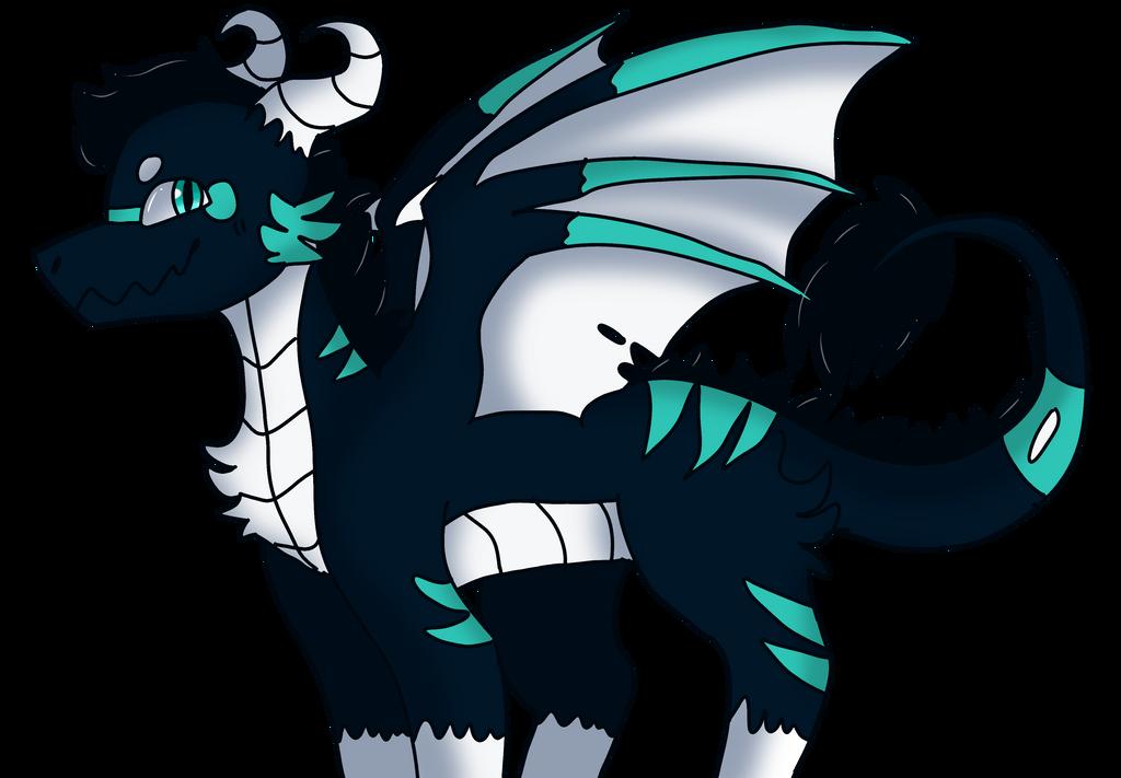 Night Dragon (tablet test) by Dragonqueen316AJ