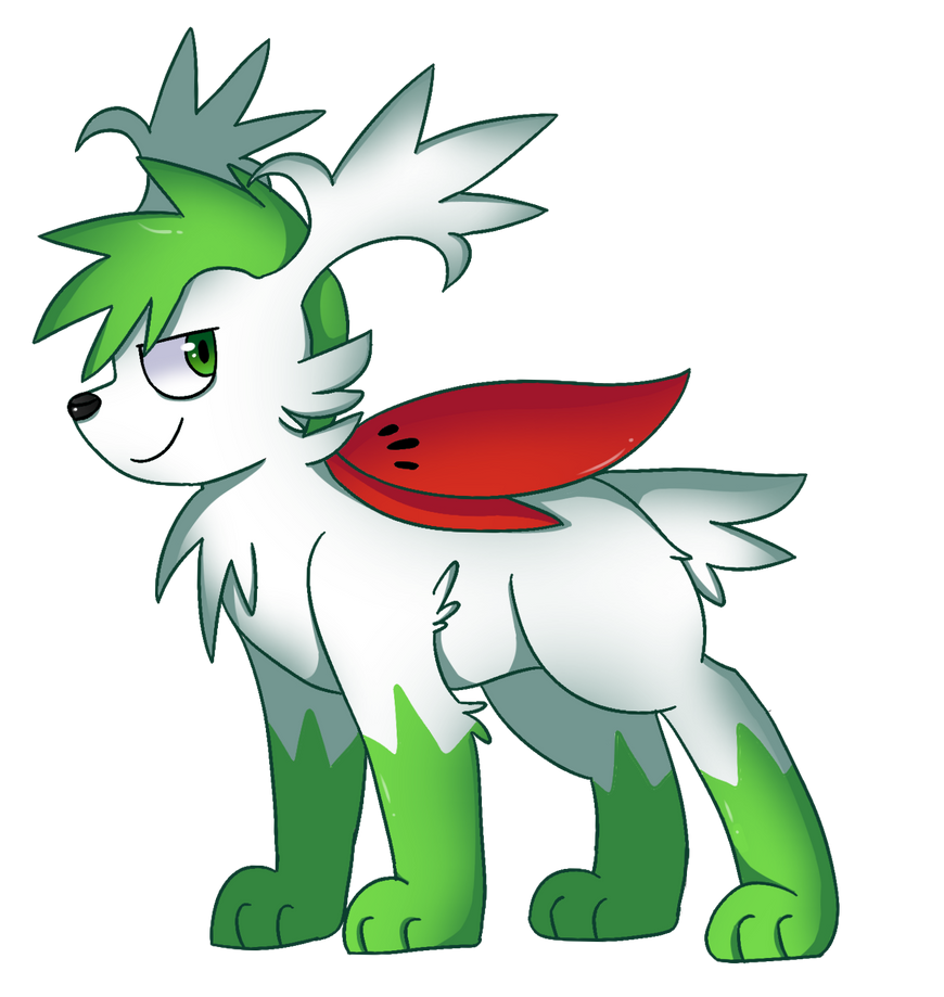Favorite Grass Pokemon : Shaymin Sky Form by Dragonqueen316AJ