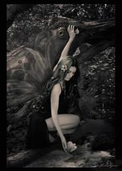 Woodland Fae -BW- by kedralynn