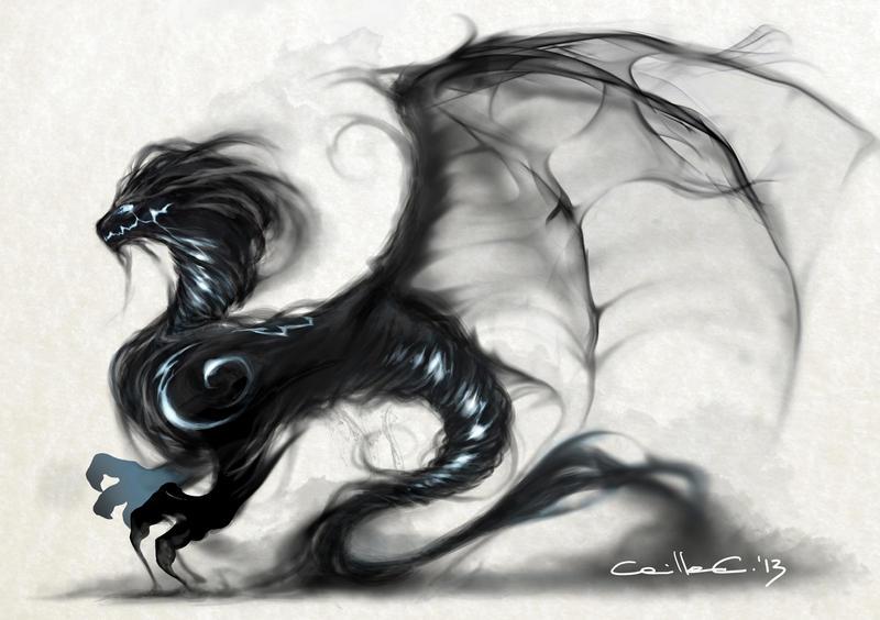 [Beautiful Smoke] ~ Blake Morron  Smoke_dragon_by_millameh-d6js55o