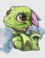 Cute Dragon by MillaMeh