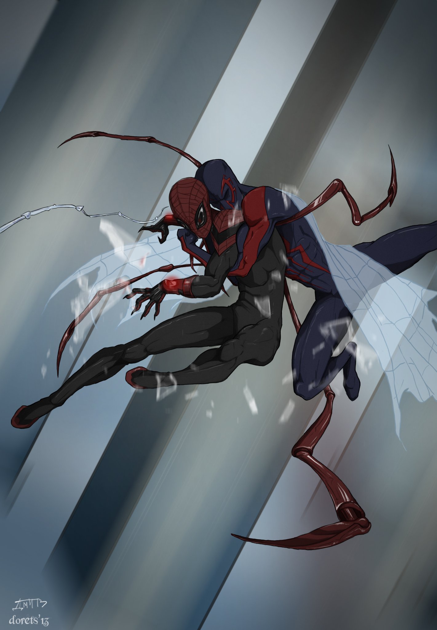 Superior Spider-Man VS Spider-Man 2099 by deu-O on DeviantArt