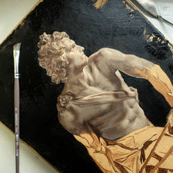 David - OIL PAINTING by Astartte