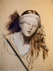 Execution of Lady Jane Grey -OIL Painting WIP by Astartte