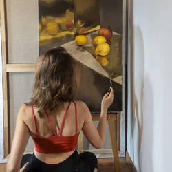 Still life with Lemons - OIL PAINTING