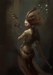 Queen Bee - Digital painting