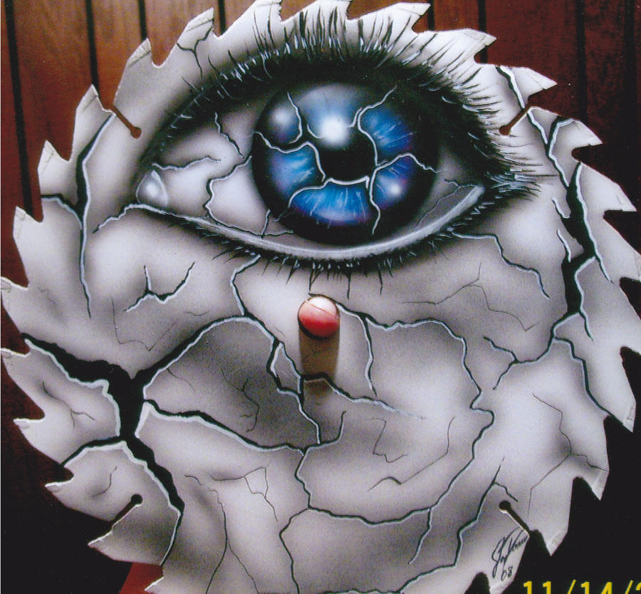 saw blade art painting. eye blade by jcdow3arts saw art painting