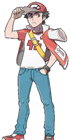 Pokemon Trainer Red with jacket