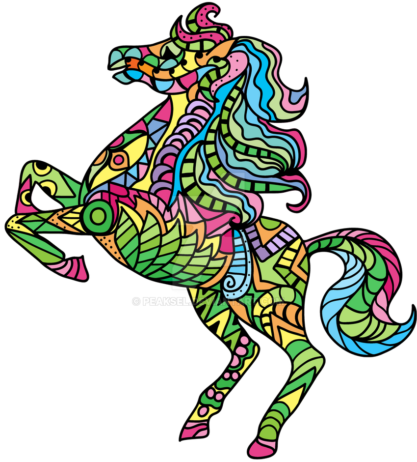 Horse Coloring Pages for Adults - Windows Phone by Peaksel on DeviantArt