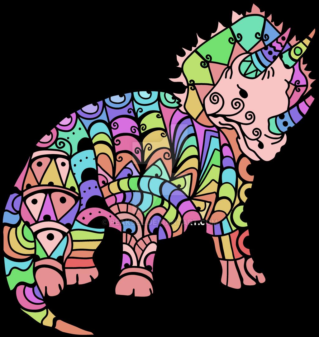 Zentangle tyrannosaurus dinosaur. Coloring page of tyrannosaurus ... | 1083x1024