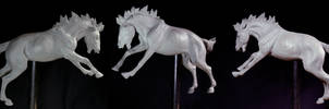 Attacking horse sculpture WIP