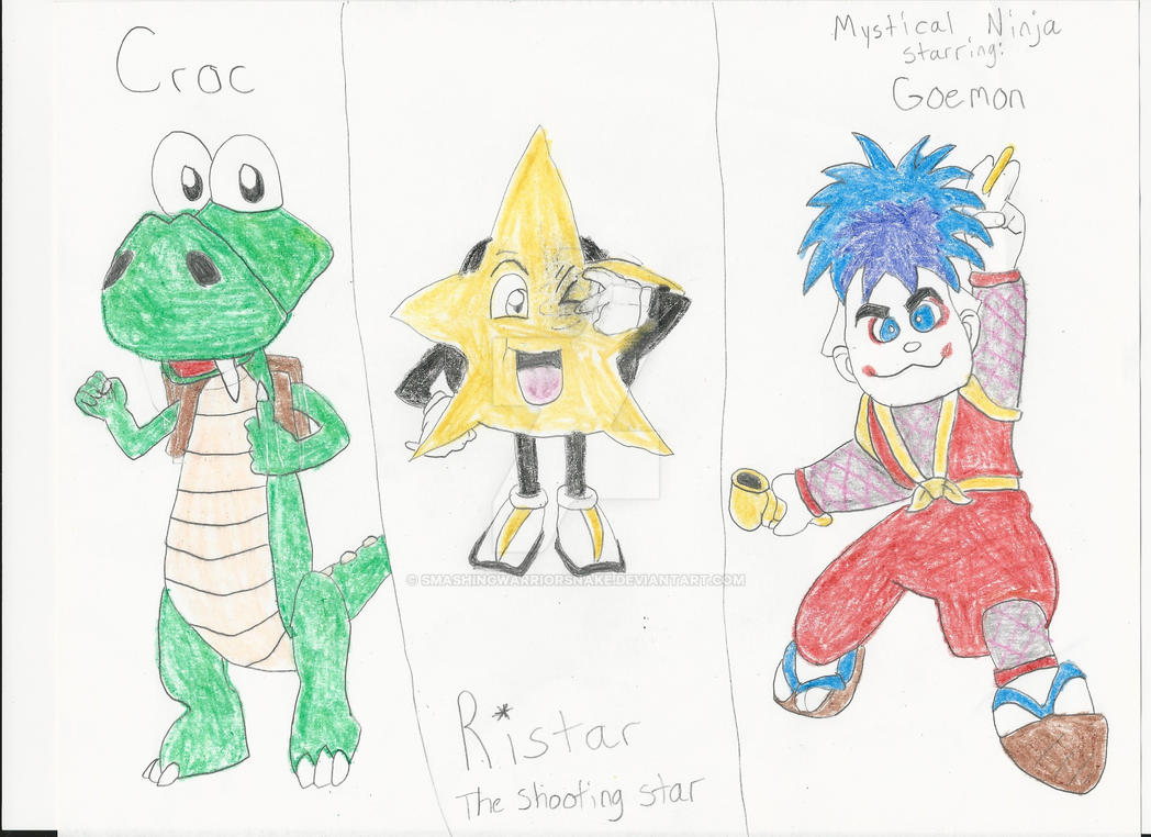 Some Forgotten Video Game Characters By Smashingwarriorsnake On