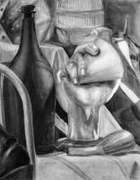 Charcoal Still Life by coldairbloon