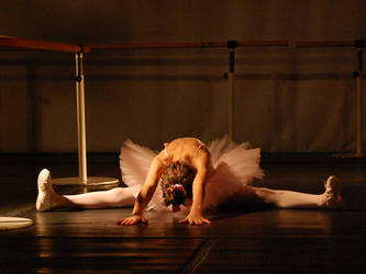 Stretching on stage by aniram67