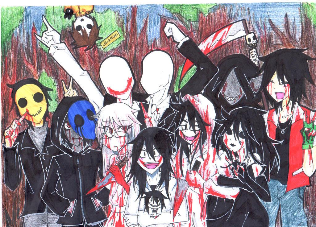 The gallery for --> Anime Creepypasta Family