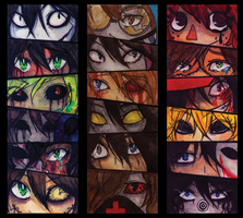 Creepypasta's eyes by servantofpsychotic