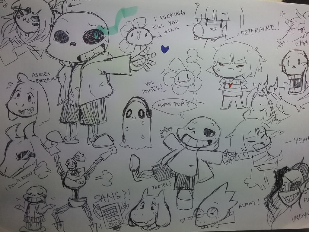 Random Doodle Of Undertale By Servantofpsychotic On DeviantArt