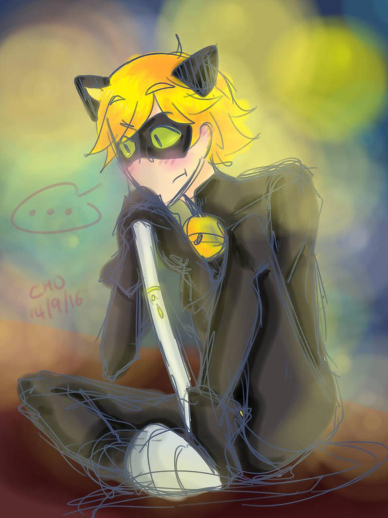 Chat Noir by servantofpsychotic