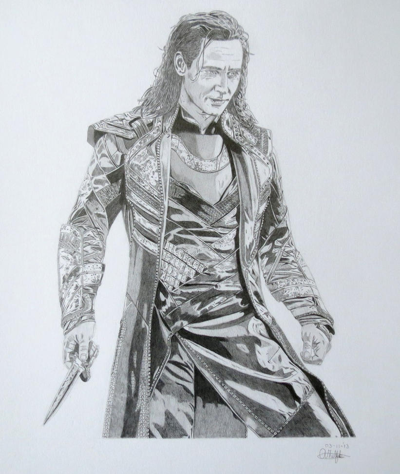 Tom Hiddleston Loki by Albertinez