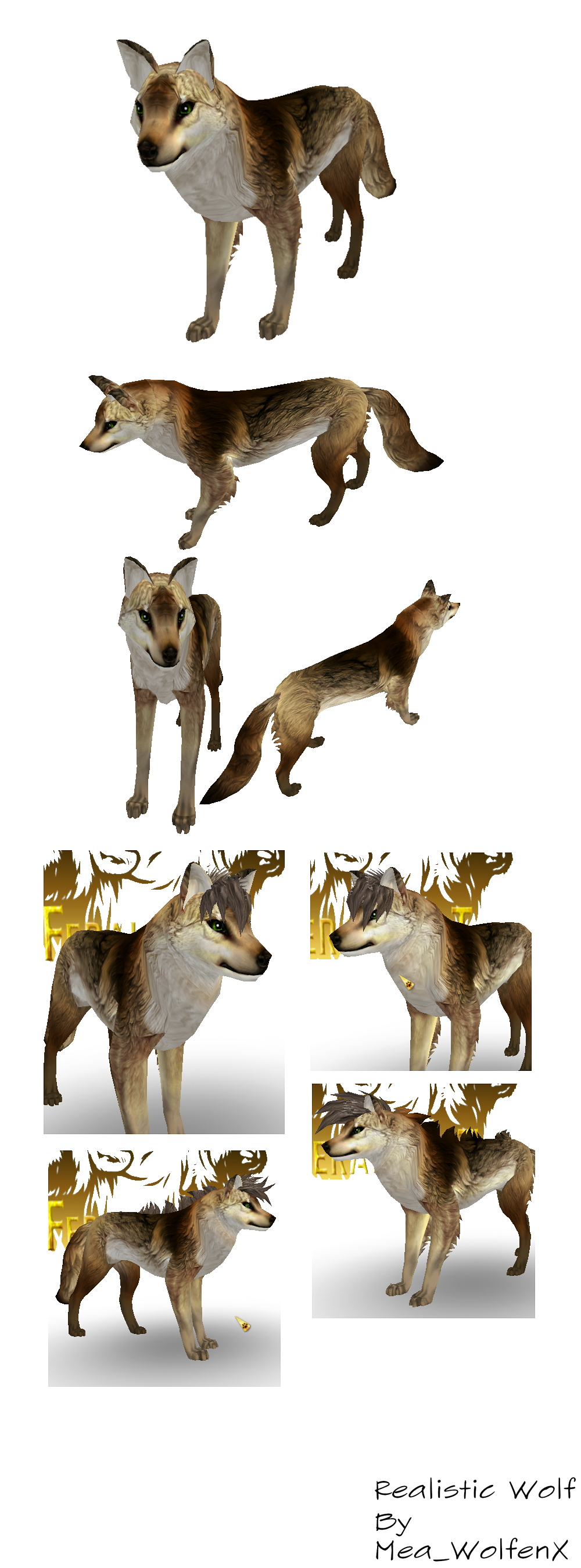 Feral Heart: Realistic Wolf Preset (Feral Heart) By MeaWolfenX On