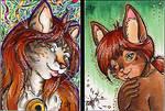.aceo:kitties. by xailachan
