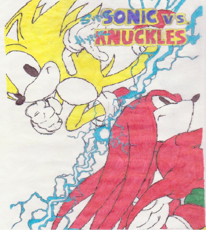 Super Sonic vs. Hyper Knuckles by theGigamix on DeviantArt