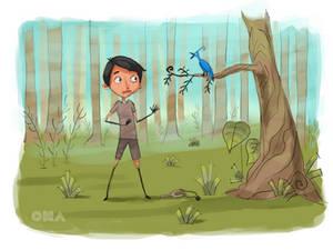 A Boy and A Bird