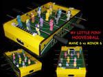 MLP Hoovesball (foosball) game 4 sale by MadPonyScientist