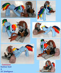 Rainbow Dash and OC pony custom sculpt commission