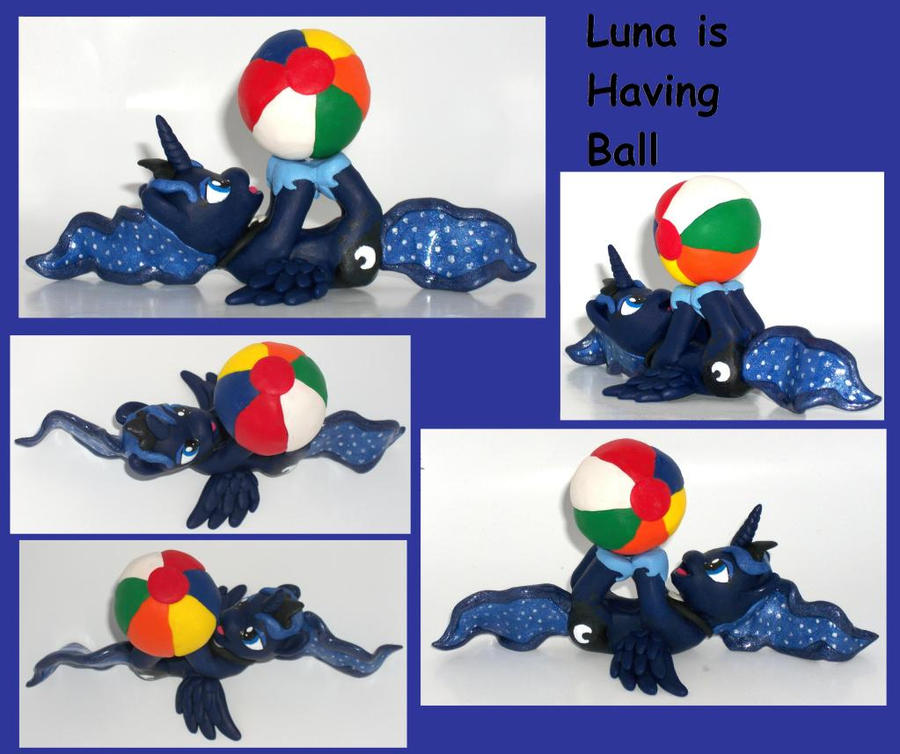 Princess Luna is Having A Ball Custom Sculpt by MadPonyScientist