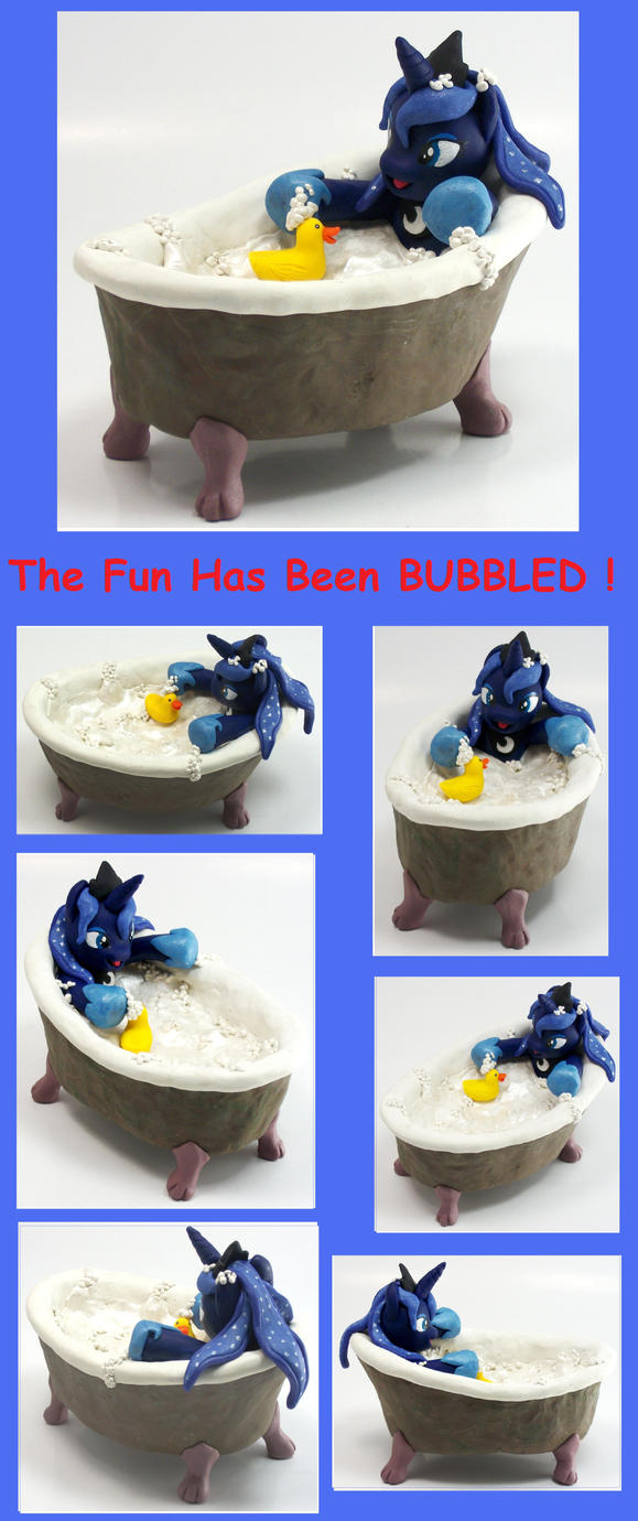 Princess Luna The Fun Has Been Bubbled custom sale by MadPonyScientist