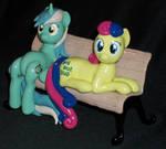 Lyra and Bon Bon custom sculpture single