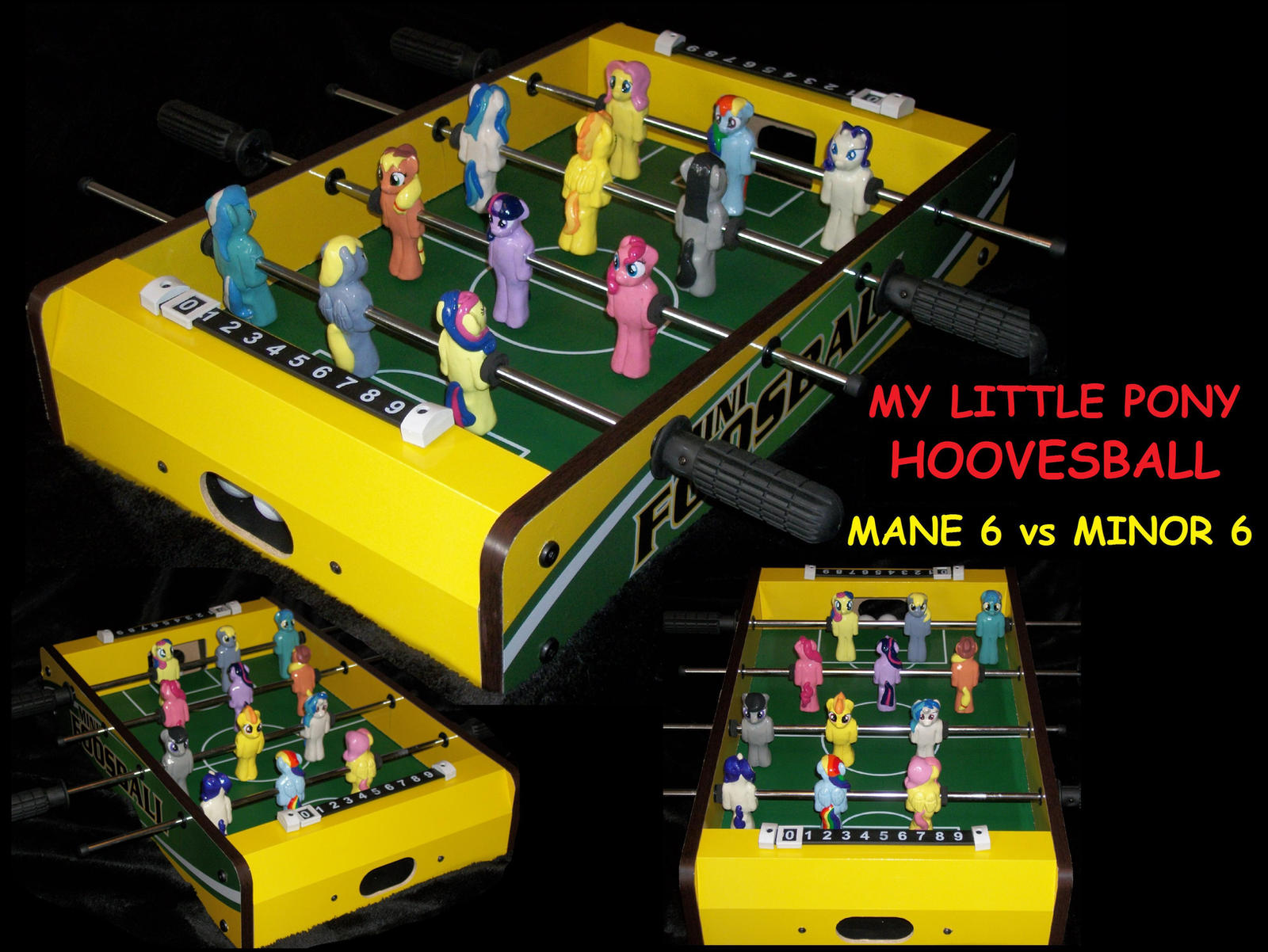 My Little Pony CUSTOM   FOOSBALL GAME !!! by MadPonyScientist