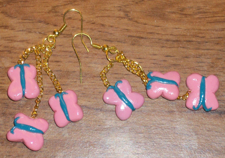 Fluttershy Cutie Mark Earrings by MadPonyScientist
