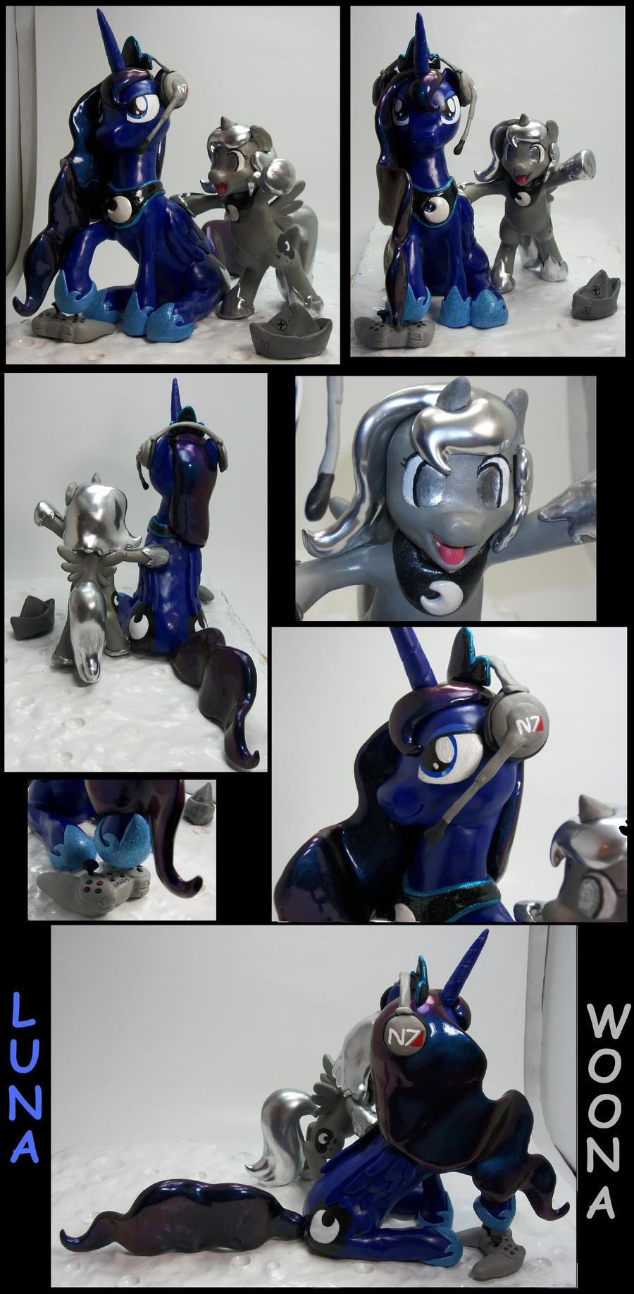 16 inch Gamer Luna Woona Color Change Chrome Hair by MadPonyScientist
