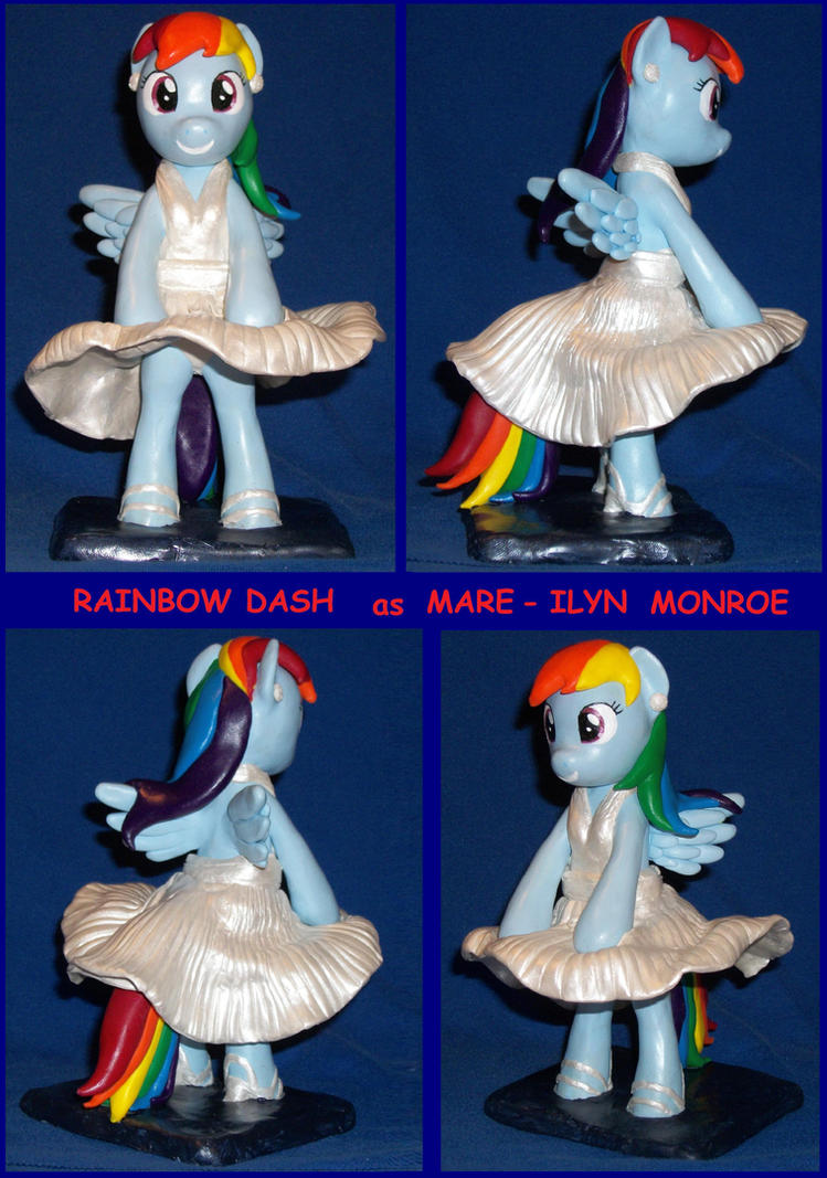 Rainbow Dash  as  MARE-ILYN (Marilyn) Monroe by MadPonyScientist