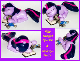 Filly TWILIGHT SPARKLE and SMARTY PANTS custom by MadPonyScientist