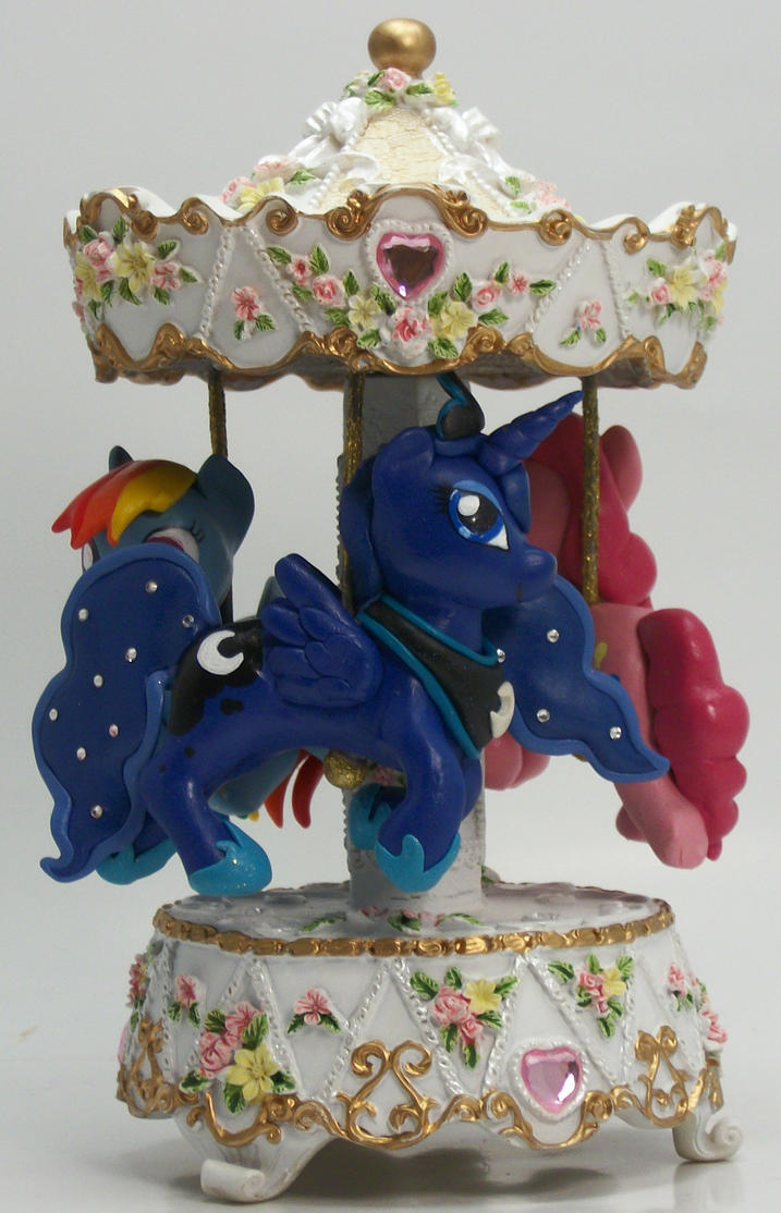 My Little Pony Musical Merry Go Round custom Luna by MadPonyScientist