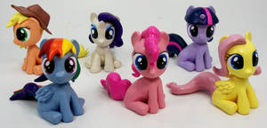 Mane 6 Filly Head Turner custom sculptures