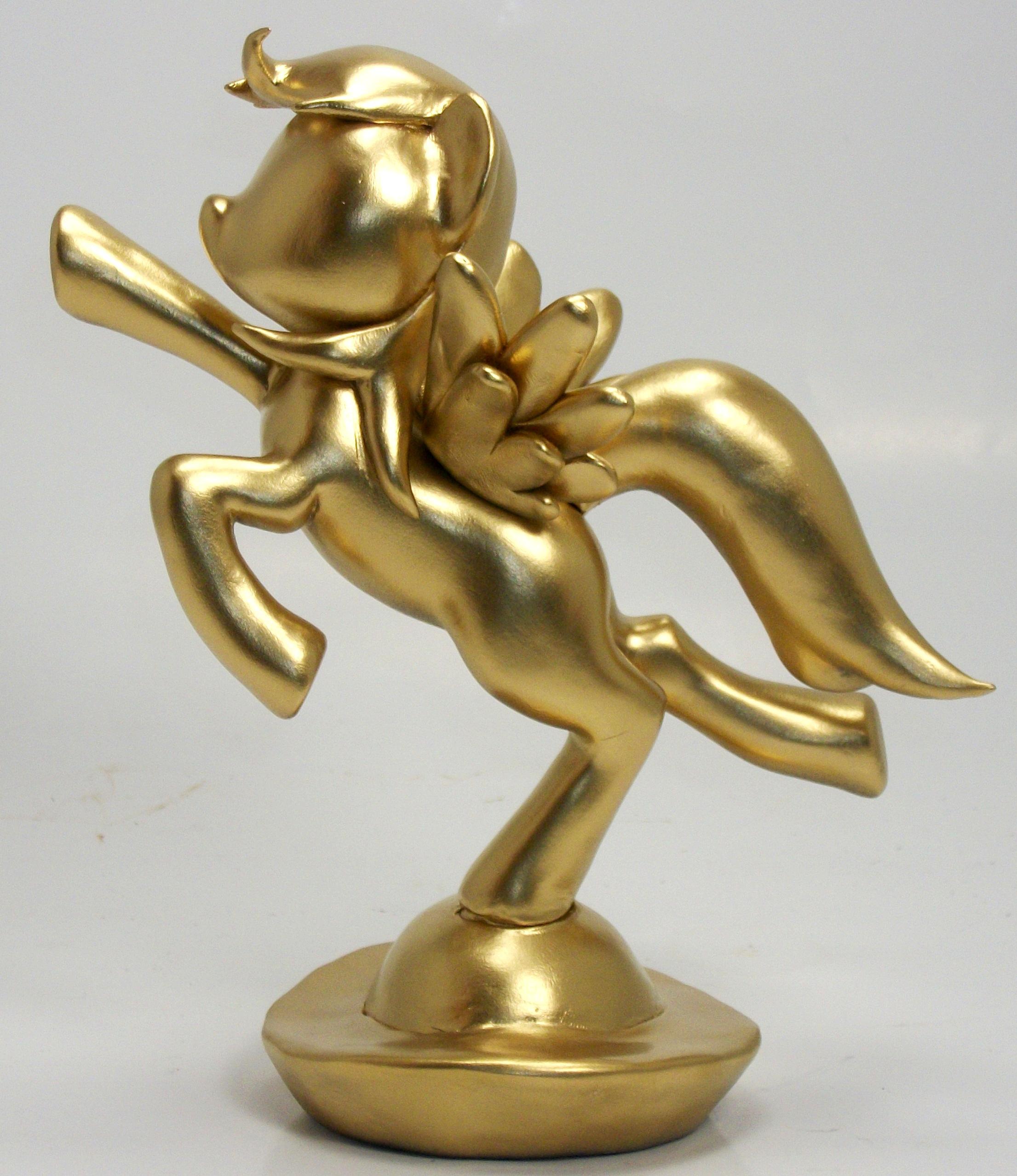 Gold Rainbow Dash Custom Trophy By MadPonyScientist