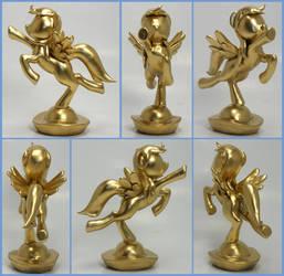 Gold Rainbow Dash custom trophy 2 award