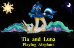 Tia and Filly Luna playing Airplane 16 inches