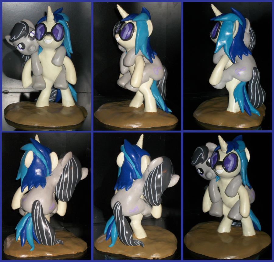 Vinyl Scratch Octavia ponyback ride sculpture by MadPonyScientist